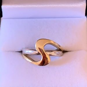 14K Yellow and White Gold Ladies Ring Size 7